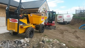 New dumper and digger