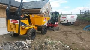 New dumper and digger